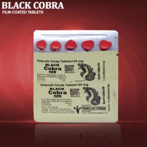 Black Cobra 125mg Sildenafil Citrate Tablets