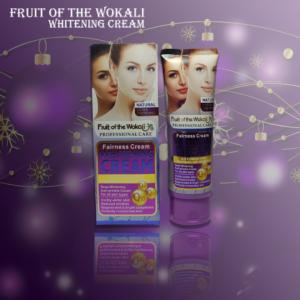FRUIT OF THE WOKALI FAIRNESS Whitening Cream reduces wrinkles, whitens skin tone and enhances skin glow naturally.